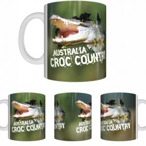 Croc Country Sublimated White Mug