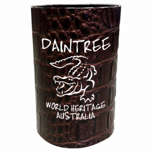 Extra Thick Stubby Holder Brown Croc Skin