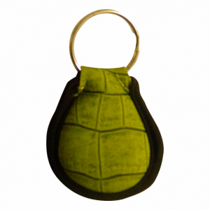 Floating Keyring Green Croc Skin