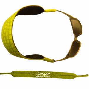 Glasses Strap Green Croc Skin