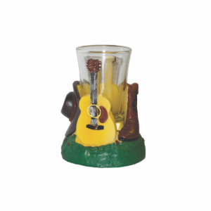 Shot Glass Holder Guitar Boot and Hat