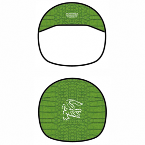 Steering Wheel Cover Green Croc Skin