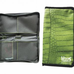 Travel Wallet Green Croc Skin