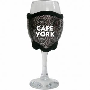 Grey Snake Skin Wine Glass Cooler