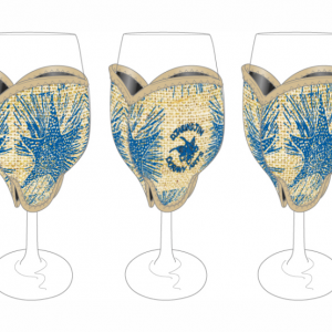 Oorany Arts Star Fish Hessian Wine Glass Cooler