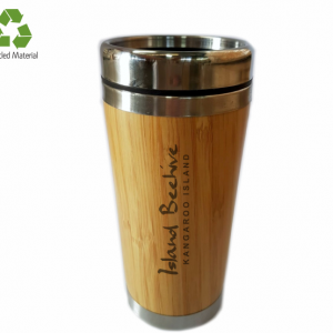 Honey Bees Bamboo Travel Flask