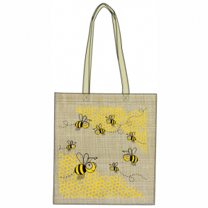 Honey Bees Hessian Tote Bag