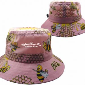 Honey Bees Light Pink Bucket Hat