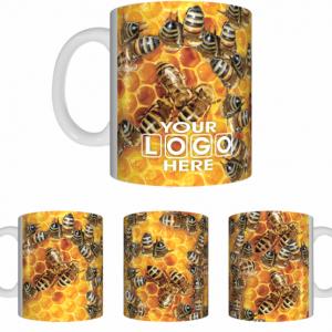 Honey Bees White Sublimated Mug