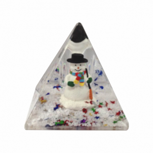 Oily Snow Pyramid Snowman with Black Hat
