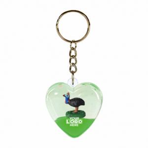 Oily Heart Key Ring Cassowary Floater