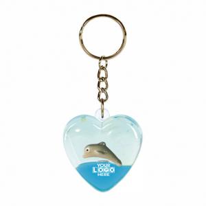 Oily Heart Key Ring Dolpin Floater