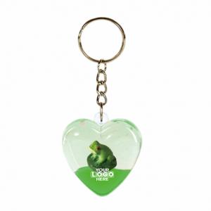 Oily Heart Key Ring Frog Floater