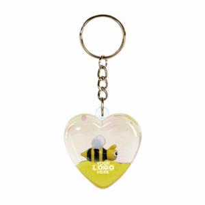 Oily Heart Keyring Honey Bees