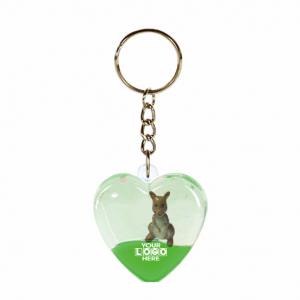Oily Heart Key Ring Kangaroo Floater