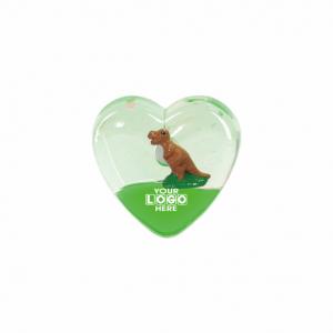 Oily Heart Magnet Dinosaur Floater