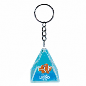 Oily Pyramid Key Ring Clown Fish Floater