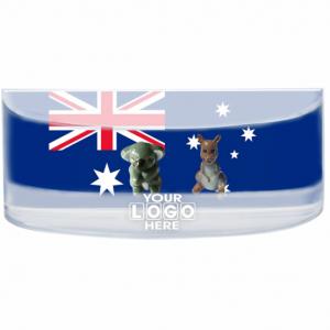 Oily Rectangular Curved Magnet Australian Flag