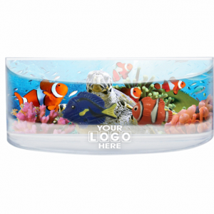 Oily Rectangular Curved Magnet Turtle & Clown fish