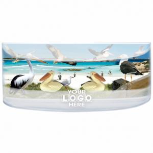 Oily Rectangular Curved Magnet Coastal Birdlife