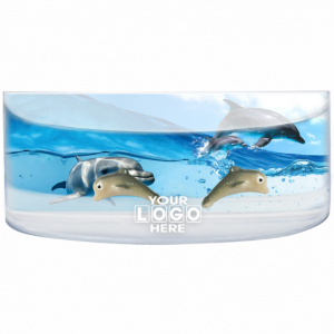Oily Rectangular Curved Magnet Dolphins