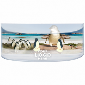 Oily Rectangular Curved Magnet Fairy Penguins