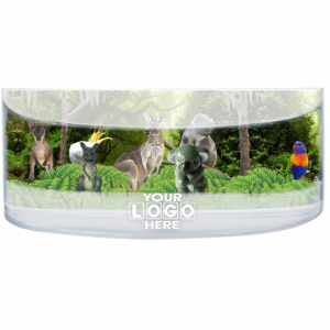Oily Rectangular Curved Magnet Forest Montage
