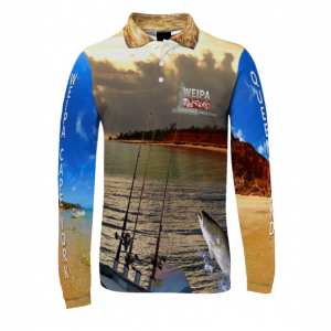 Sublimated Long Sleeve Polo Shirt