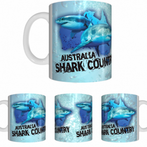 Shark Country White Mug Wrap