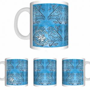 Oorany Arts Birds Sublimated White Mug Wrap