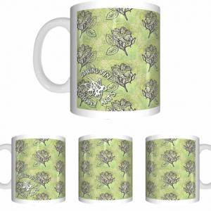 Oorany Arts Flowers Sublimated White Mug Wrap