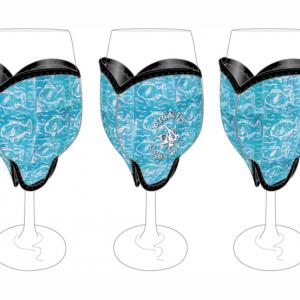 Oorany Arts Fish Wine Glass Cooler