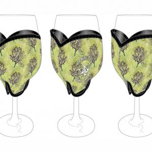 Oorany Arts Flowers Wine Glass Cooler