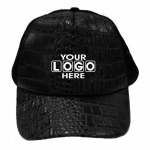 Black Croc Skin Truckers Cap
