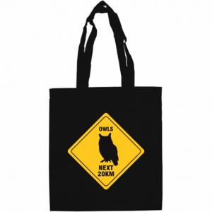 Road Sign Calico Shopper Bag