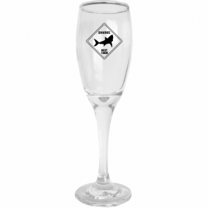 Road Sign Champagne Flute