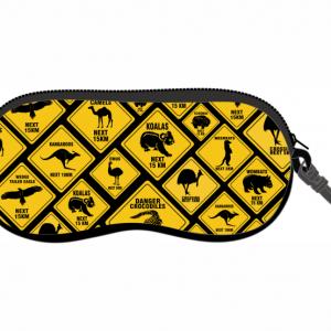Road Sign Glasses Case