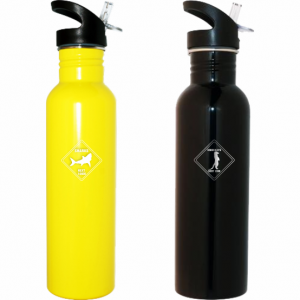 Road Sign Stainless Steel Water Bottle