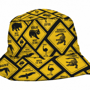 Road Sign Sublimated Bucket Hat