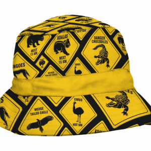 Road Sign Sublimated Kids Bucket Hat