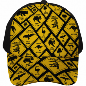 Road Sign Sublimated Truckers Cap