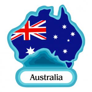 Australia Flag PVC Magnets