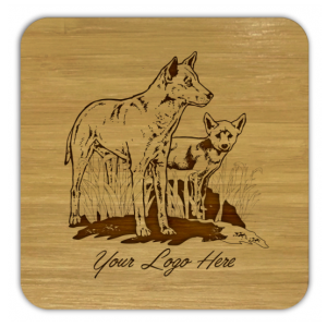 Dingo and Pup Bamboo Coaster