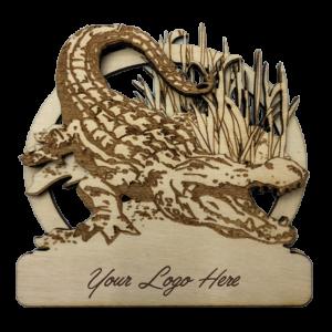 Crocodile Bamboo Magnet