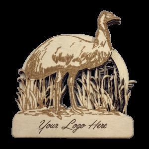 Emu Bamboo Magnet