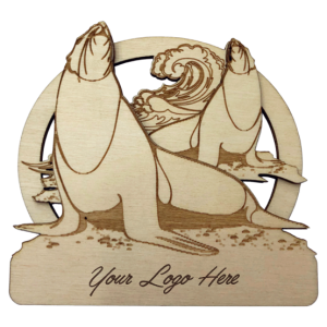 Sealions Bamboo Magnet