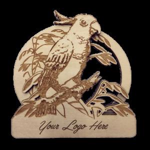 Cockatoo Bamboo Magnet
