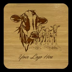 Cows Bamboo Coaster
